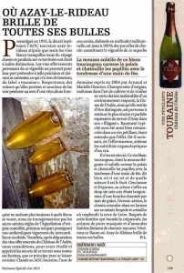 """Article dans Marianne Spécial vins 2010 sur le Château de l'Aulée """"Elégant"""""""