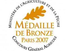 Médaille de Bronze - Concours Général Agricole - Paris 2007