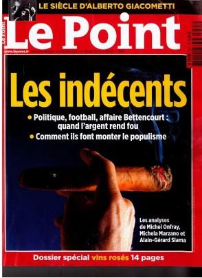 Le Point - Dossier spécial vins rosé - 24 juin 2010