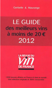 Le Guide 2012 des meilleurs vins à moins de 20 €